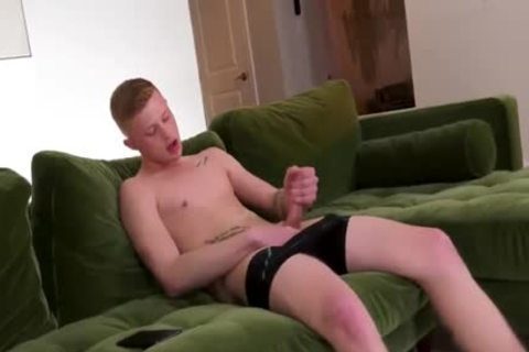 Ginger twink Is So excited he Needs 2 BBC Inside His taut Little twink hole