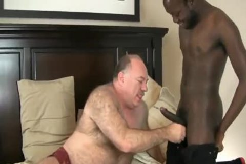 Chub Daddy Wants darksome cock